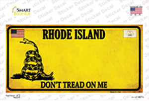 Rhode Island Dont Tread On Me Wholesale Novelty Sticker Decal