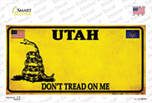 Utah Dont Tread On Me Wholesale Novelty Sticker Decal