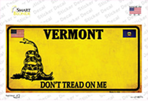 Vermont Dont Tread On Me Wholesale Novelty Sticker Decal