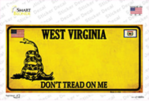 West Virginia Dont Tread On Me Wholesale Novelty Sticker Decal