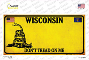 Wisconsin Dont Tread On Me Wholesale Novelty Sticker Decal