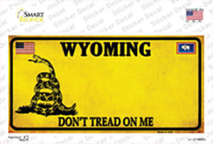 Wyoming Dont Tread On Me Wholesale Novelty Sticker Decal
