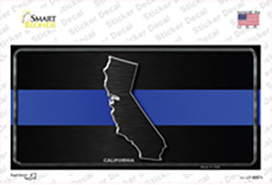California Thin Blue Line Wholesale Novelty Sticker Decal
