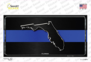 Florida Thin Blue Line Wholesale Novelty Sticker Decal