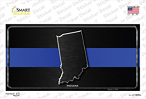 Indiana Thin Blue Line Wholesale Novelty Sticker Decal