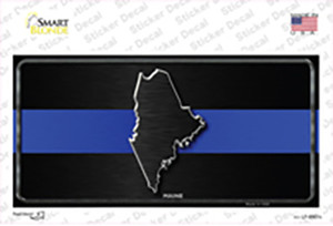 Maine Thin Blue Line Wholesale Novelty Sticker Decal