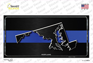 Maryland Thin Blue Line Wholesale Novelty Sticker Decal
