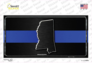 Mississippi Thin Blue Line Wholesale Novelty Sticker Decal