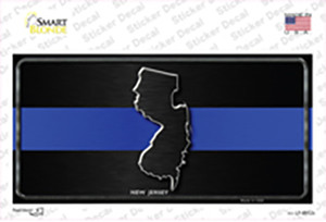 New Jersey Thin Blue Line Wholesale Novelty Sticker Decal