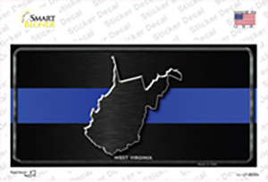 West Virginia Thin Blue Line Wholesale Novelty Sticker Decal
