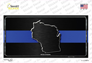 Wisconsin Thin Blue Line Wholesale Novelty Sticker Decal
