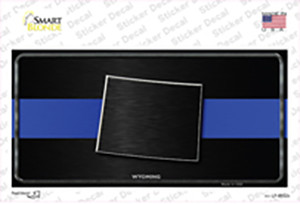 Wyoming Thin Blue Line Wholesale Novelty Sticker Decal