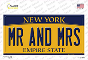Mr and Mrs New York Wholesale Novelty Sticker Decal