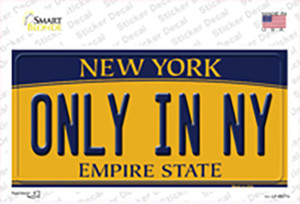 Only in NY New York Wholesale Novelty Sticker Decal