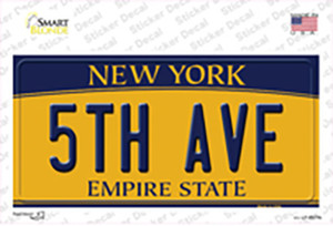 5th Ave New York Wholesale Novelty Sticker Decal
