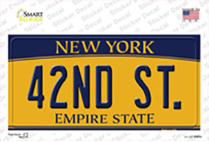 42nd St New York Wholesale Novelty Sticker Decal