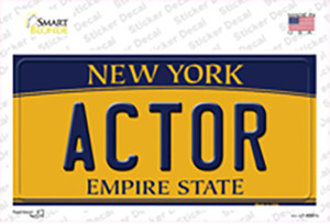 Actor New York Wholesale Novelty Sticker Decal