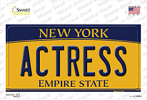 Actress New York Wholesale Novelty Sticker Decal