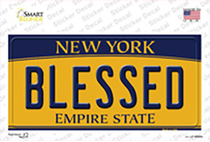 Blessed New York Wholesale Novelty Sticker Decal