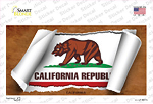California Flag Scroll Wholesale Novelty Sticker Decal
