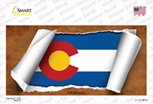 Colorado Flag Scroll Wholesale Novelty Sticker Decal