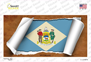Delaware Flag Scroll Wholesale Novelty Sticker Decal