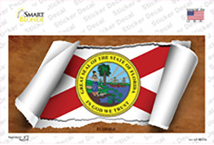 Florida Flag Scroll Wholesale Novelty Sticker Decal