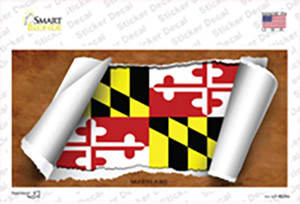 Maryland Flag Scroll Wholesale Novelty Sticker Decal
