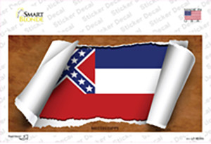 Mississippi Flag Scroll Wholesale Novelty Sticker Decal