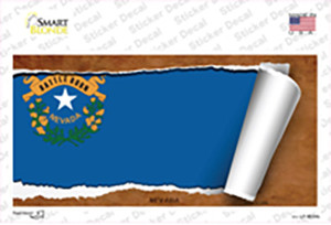 Nevada Flag Scroll Wholesale Novelty Sticker Decal