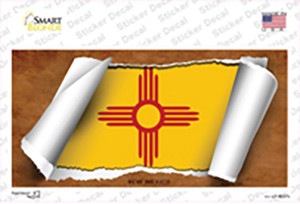 New Mexico Flag Scroll Wholesale Novelty Sticker Decal