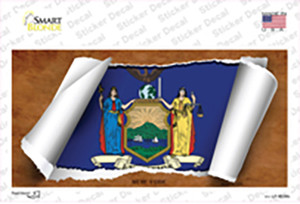 New York Flag Scroll Wholesale Novelty Sticker Decal