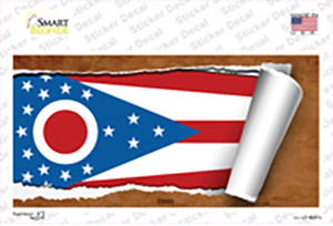 Ohio Flag Scroll Wholesale Novelty Sticker Decal
