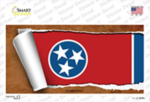 Tennessee Flag Scroll Wholesale Novelty Sticker Decal