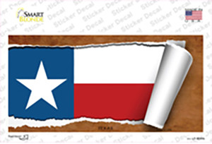 Texas Flag Scroll Wholesale Novelty Sticker Decal
