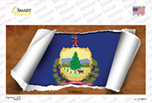 Vermont Flag Scroll Wholesale Novelty Sticker Decal