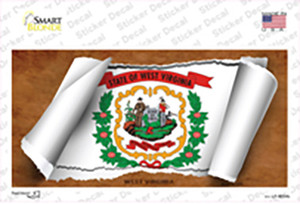West Virginia Flag Scroll Wholesale Novelty Sticker Decal