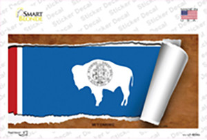 Wyoming Flag Scroll Wholesale Novelty Sticker Decal