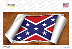Confederate Flag Scroll Wholesale Novelty Sticker Decal