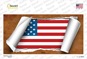 American Flag Scroll Wholesale Novelty Sticker Decal