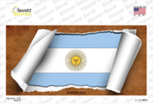 Argentina Flag Scroll Wholesale Novelty Sticker Decal