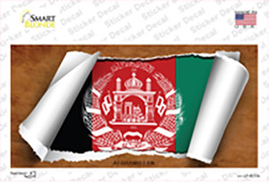 Afghanistan Flag Scroll Wholesale Novelty Sticker Decal