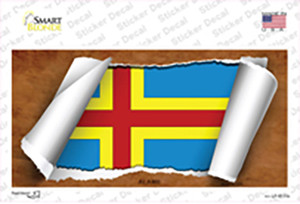 Aland Flag Scroll Wholesale Novelty Sticker Decal