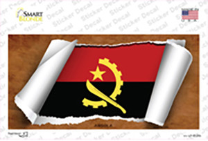 Angola Flag Scroll Wholesale Novelty Sticker Decal