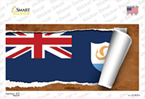Anguilla Flag Scroll Wholesale Novelty Sticker Decal