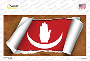 Anjouan Flag Scroll Wholesale Novelty Sticker Decal