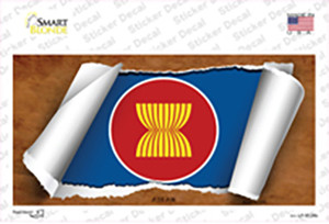 Asean Flag Scroll Wholesale Novelty Sticker Decal