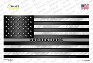 American Flag Corrections Wholesale Novelty Sticker Decal