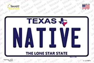 Native Texas Wholesale Novelty Sticker Decal
