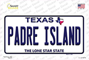 Padre Island Texas Wholesale Novelty Sticker Decal